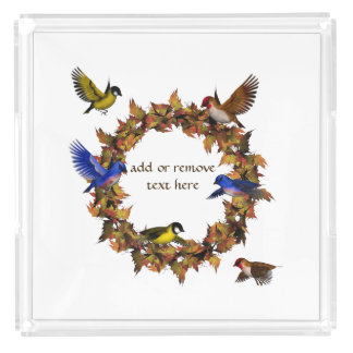 Autumn Birds Acrylic Tray