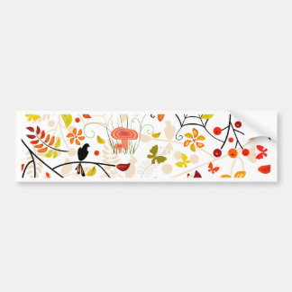 autumn birds bumper sticker