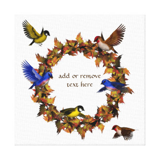 Autumn Birds Canvas Print