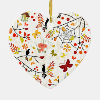 autumn birds christmas ornament