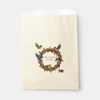 Autumn Birds Favour Bags