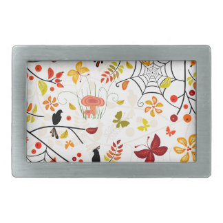 autumn birds rectangular belt buckles