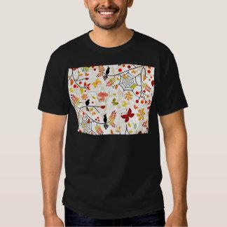 autumn birds tee shirts