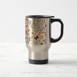 autumn birds travel mug