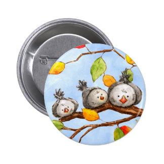 Autumn Birds Trio Button