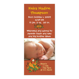 Autumn Birth Announcement