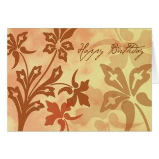 Autumn Birthday Greeting Card