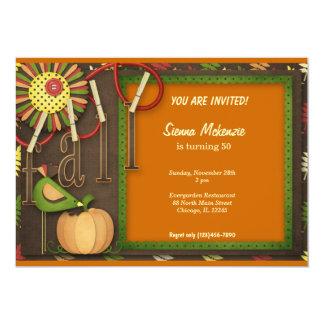 Autumn Birthday Custom Invite