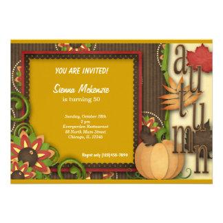 Autumn Birthday Invite