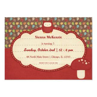 Autumn Birthday party 5x7 Paper Invitation Card