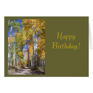 Autumn Birthday Template Greeting Card