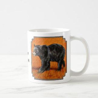 Autumn Black Bear Basic White Mug