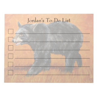Autumn Black Bear Note Pads