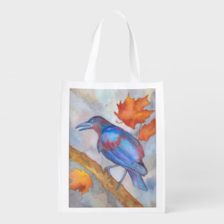 Autumn blackbird market tote