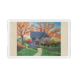 Autumn Blessings Acrylic Tray