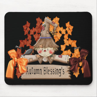 autumn blessings mouse pad
