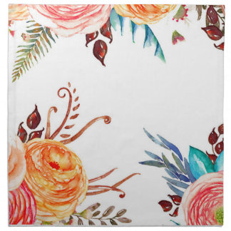 """Autumn Blooms"" Dinner Napkins Set of 4"
