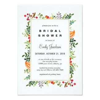 Autumn Blooms Fall Bridal Shower Invitation