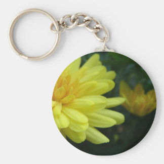 Autumn Blooms Basic Round Button Key Ring