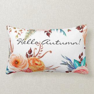 """""""Autumn Blooms"""" Rectangular Lumbar Throw Pillow"""