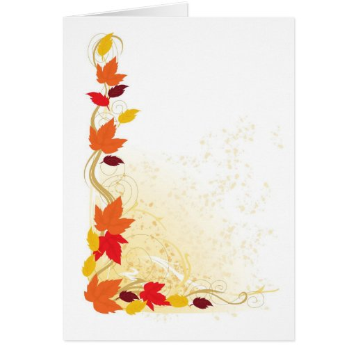 Autumn Border Greeting Card   Zazzle