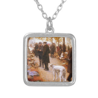 Autumn Borzoi Stroll Custom Jewelry