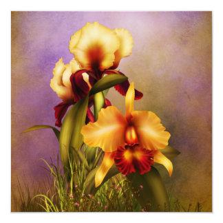 Autumn Bouquet 13 Cm X 13 Cm Square Invitation Card