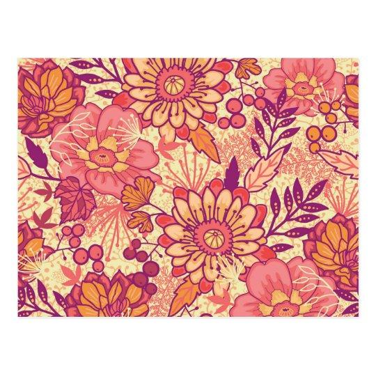 Autumn bouquet pattern postcard