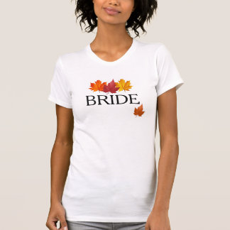 Autumn Bride Shirt - Fall Leaves