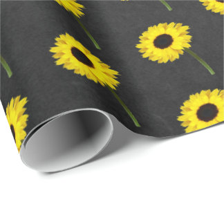 Autumn Bride Sunflower Party Wrapping Paper