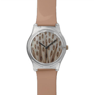Autumn Brown Peacock Watch
