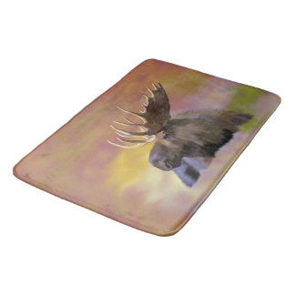 Autumn Bull Moose Bath Mat