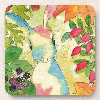 Autumn Bunny by Peppermint Art Coaster