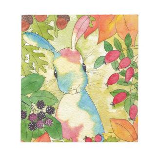 Autumn Bunny by Peppermint Art Notepad