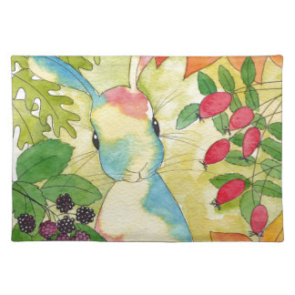 Autumn Bunny by Peppermint Art Placemat