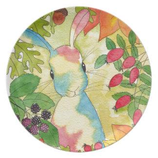 Autumn Bunny by Peppermint Art Plate