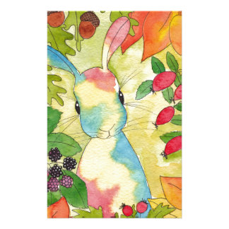 Autumn Bunny by Peppermint Art Stationery