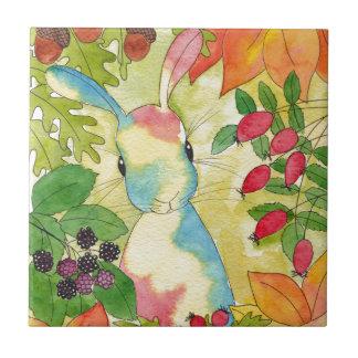 Autumn Bunny by Peppermint Art Tile