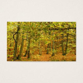 autumn business card