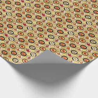 Autumn Buttons Pattern Wrapping Paper