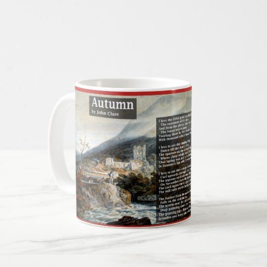 Autumn by John Clare Poetry Coffee Mug