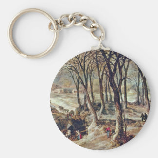 Autumn By Joost De Momper D. J Basic Round Button Key Ring