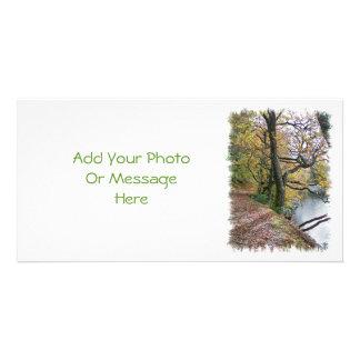 AUTUMN BY THE LAKE CUSTOM PHOTO CARD