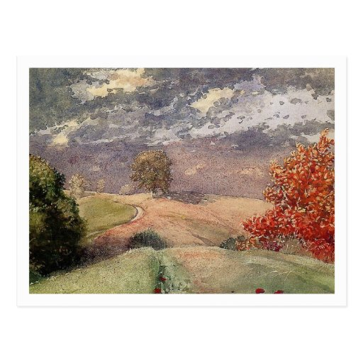 Autumn by Winslow Homer Post Card