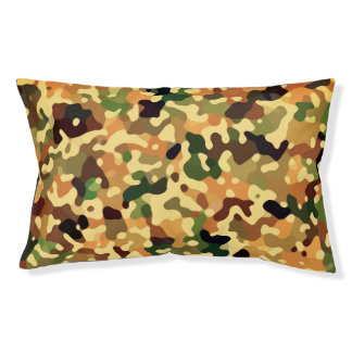 Autumn Camo Fall Colors Pet Bed