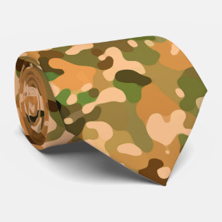 Autumn Camo Fall Colors Tie