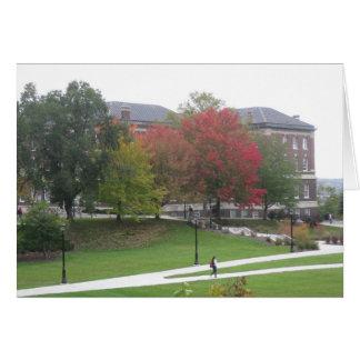 Autumn campus scene greeting card