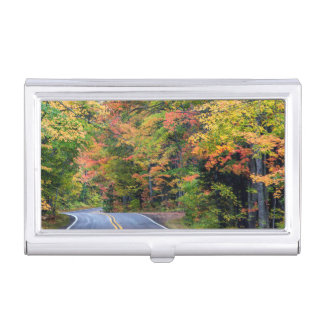 Autumn Canopy Of Color Along Highway 41 2 Business Card Holder