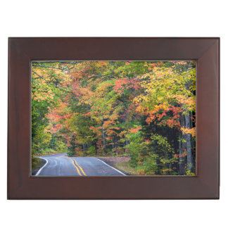 Autumn Canopy Of Color Along Highway 41 2 Keepsake Boxes