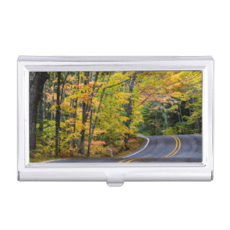 Autumn Canopy Of Color Along Highway 41 Business Card Holder